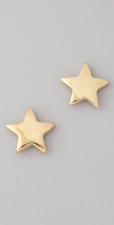 jilllauck:    Bop Bijoux gold star earrings - Shop Bop