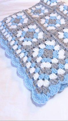 Items similar to crochet baby blanket grandma square baby blanket .- Ähnliche Artikel wie Häkeln Baby Decke Oma Platz Baby Decke Baby Boy Decke bla… Items similar to crochet baby blanket grandma square baby blanket baby boy blanket blue … – - Blue Baby Blanket, Baby Boy Crochet Blanket, Baby Boy Blankets, Knitted Baby Blankets, Crochet Baby, Crochet Gifts, Baby Granny Square Blanket, Crotchet, Motifs Granny Square