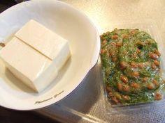 Mekabu Seaweed and Natto on Tofu
