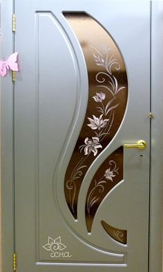 Tips For Elegant Home Decor House Main Door Design, Wooden Front Door Design, Door Gate Design, Room Door Design, Door Design Interior, Wooden Front Doors, Window Grill Design Modern, Grill Door Design, Etched Glass Door