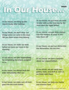 In Our House - can be a good way to learn that people do things differently and that you should follow the rules a household have.