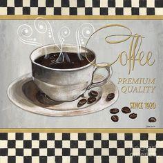Coffee Painting - Coffee Shoppe 1 by Debbie DeWitt