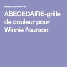 ABECEDAIRE-grille de couleur pour Winnie l'ourson