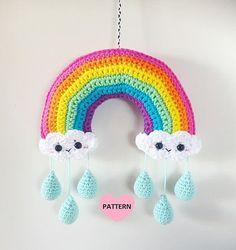 Rainbow Mobile PDF Pattern crochet by SuperCuteDesignShop on Etsy