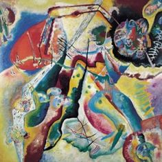 Wassily Kandinsky. Painting with Red Spot, 1914