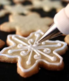 frosting cookies is one of our fave holiday activities