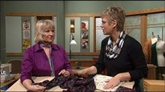 Sensational Scarves, Part 1 Video from Sewing with Nancy. Transform a rectangle into a drapable spiral scarf, tuck and gather challis fabric for a cascading scarf, or create clever knit infinity ring scarves. Nancy and guest Donna Fenske share the simple process for making creative new fabric accessories-sensational scarves!
