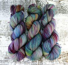 Hand Dyed Sock Yarn Superwash Merino Wool Sky Blue by FiberFangirl