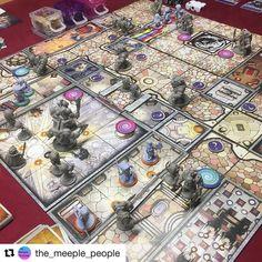 Arcadia Quest como sempre lindo! Esse jogo é lindo em todos os sentidos e ângulos! #arcadiaquest #boardgame #DeliDaPersy #galapagosjogos