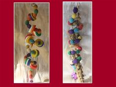 A pack of two fav twisters to make your bird smile :)   Round the twist differently:Easy to manipulate to fit your environment. 35-40cm.   Round the twist, pure and original: Comes with a millet spray :)   Bead colours may vary, made to order - freshly picked you could say!   I pride myself on providing good quality, safe & affordable pet products.  Exclusively handmade for thefuzziehaven by fuzzies72 Twisters, Bird Toys, Pet Products, Pride, Environment, Packing, Colours, Make It Yourself, Beads