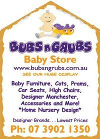 Bubs n Grubs Baby Store is one of Australia's Biggest Online and Bricks and Mortar Baby Stores who deliver fast and guarantee the lowest prices Australia Wide