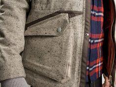 VERYMASA: White Mountaineering Gore-Tex Nep Tweed 3L Mixed Jacket