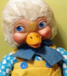 Vintage Rubber Face Stuffed Gund Duck by Bunnydollvintage on Etsy, $125.00