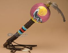 Authentic Native American gourd rattle. This gourd shaker is hand made and…