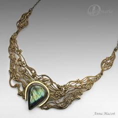 "Anna Mazon | Gorgeous ""Flower storm"" necklace by Anna Mazoń is a part of her ..."