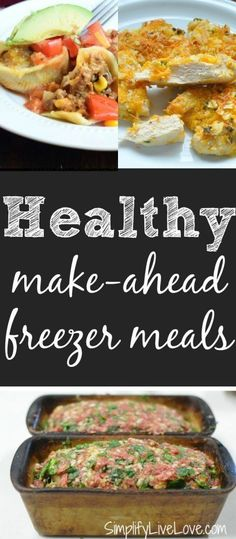 Healthy make-ahead freezer meals to add to your weekend freezer cooking session. Get a jump start on the next week by adding healthy freezer meals to your meal plan. Plan Ahead Meals, Make Ahead Freezer Meals, Freezer Cooking, Quick Meals, Freezer Recipes, Freezer Lasagna, Budget Recipes, Frugal Meals, Crockpot Meals
