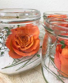 Deko Idee! Rosen im Glas