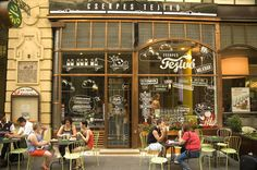 There are various cafes on the Vaci Utca in Budapest. We crossed this one on our way to Hard Rock Cafe. European River Cruises, Vintage Restaurant, Budapest Hungary, My Heritage, Coffee Break, Prague, Vienna, Hard Rock, Traveling