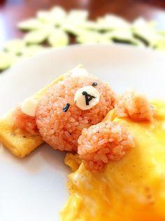 Rirakkuma egg rice. リラックマオムライス