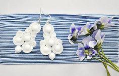 Cukorpalantak / Laura - biele náušnice pre nevestu
