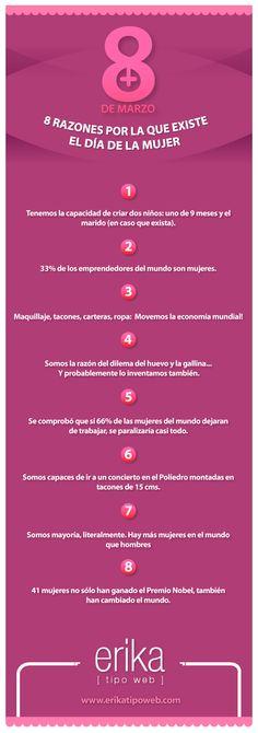 8 razones por las que existe el dia de la Mujer o.O
