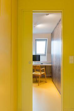 mawa design ° luminaire - wittenberg ° project - haus k41 ° studio karhard ° photocredits - stefan lucks ° berlin Mawa Design, Design Projects, Mirror, Studio, Berlin, Furniture, Yellow, Home Decor, Haus