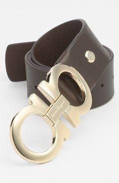 Salvatore Ferragamo Calfskin Belt available at #Nordstrom