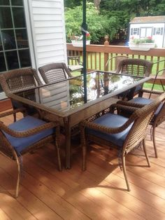Hampton Bay Spring Haven Brown 7 Piece All Weather Wicker Patio Dining Set  With