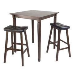 Winsome Kingsgate High/Pub Dining Table with Cushioned Saddle Stool, 3-Piece (Misc.)  http://mobilephone.10h.us/amazon.php?p=[PRODUCT_ID  B005NBVZ0U