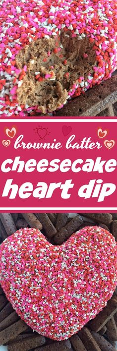 Brownie Batter Cheesecake Heart Dip | Valentine's Day Recipes | Brownie Batter Recipes | Valentine's Day Desserts | Cheesecake Dip | Heart Desserts | Together as Family #valentinesdayrecipes #valentinesdaydesserts