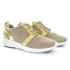 de michael kors michael kors sneaker amanda trainer pale gold air. Black Bedroom Furniture Sets. Home Design Ideas