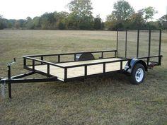 6 x 12 ft Utility Trailer Plans - Single Axle