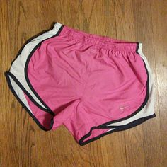 NIKE Dri-Fit Tempo Running Shorts XS Pink with blue trim. Built in brief. Like new condition. Nike Shorts
