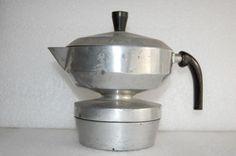 CAFFETTIERA VINTAGE ANNI 50 BIZARRE COFFEE MAKER MACHINE , MADE IN ITALY 1950 s
