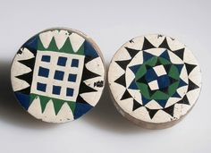 Full Image and Description Ear Plugs, Zulu, Ethnic Jewelry, Anthropology, African Art, Painting On Wood, South Africa, Bling, Image
