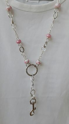 Hey, I found this really awesome Etsy listing at https://www.etsy.com/au/listing/522011722/lanyard-silver-pink-chain-australia-id