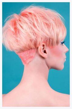Cute cut and pink haircolor