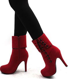I love the look of these. Wish they were a little shorter or had a chunkier heel though.