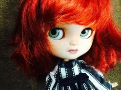 Custom Icy Doll like Blythe OOAK named Ruby by EmmyBlythe