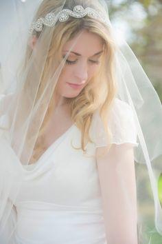 5c26d527b0b06 Juliet Cap Veil by GildedShadows Wedding Hairstyles With Veil