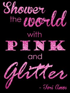 Shower the World with Pink and Glitter printable // Budget Fairy Tale