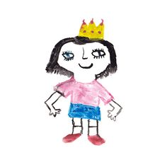 Crown Girl  A5 Print by ThePocketMoneyShop on Etsy