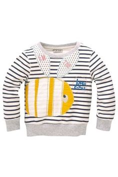 Buy Bumble Bee Appliqué Stripe Sweater from the Next UK online shop Boys T Shirts, Tee Shirts, Latest Fashion For Women, Kids Fashion, Textiles, Baby Couture, Stylish Boys, Urban Fashion, Printed Shirts