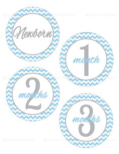 Baby Monthly Sitckers Printable Baby Months Baby by DnADesigned