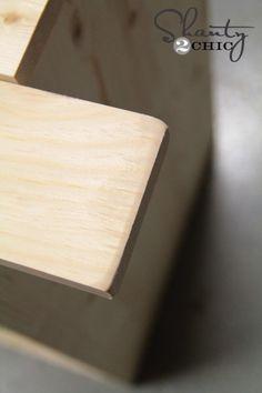 DIY Nightstand - Shanty 2 Chic Diy Furniture Nightstand, Diy Furniture Easy, Furniture Makeover, Furniture Projects, Wood Furniture, Furniture Design, Wood Shop Projects, Wooden Projects, Diy Pallet Projects
