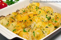 CARTOFI TARANESTI CU CEAPA - DE POST | Diva in bucatarie New Recipes, Vegan Recipes, Cooking Recipes, Helathy Food, Good Food, Yummy Food, Romanian Food, Vegetable Recipes, Food To Make
