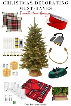 Fabulous list of must-have items that you want for decorating your home for Christmas! Have the items ready to go for decorating! #christmas #christmasdecorating #christmasdecor