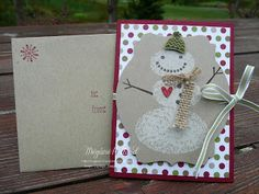 Megumi's Stampin Retreat: Snow Day Gift Card Holder