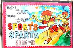 Art ,Craft ideas and bulletin boards for elementary schools: Sports Day bulletin…