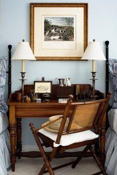British Colonial Decor, British Home Decor, Tropical Home Decor, Tropical Interior, Tropical Furniture, Blue Furniture, Furniture Ideas, Colonial Furniture, Tropical Colors